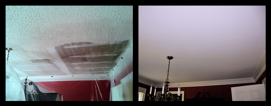 Painting Popcorn Ceiling Stucco Repair Patch