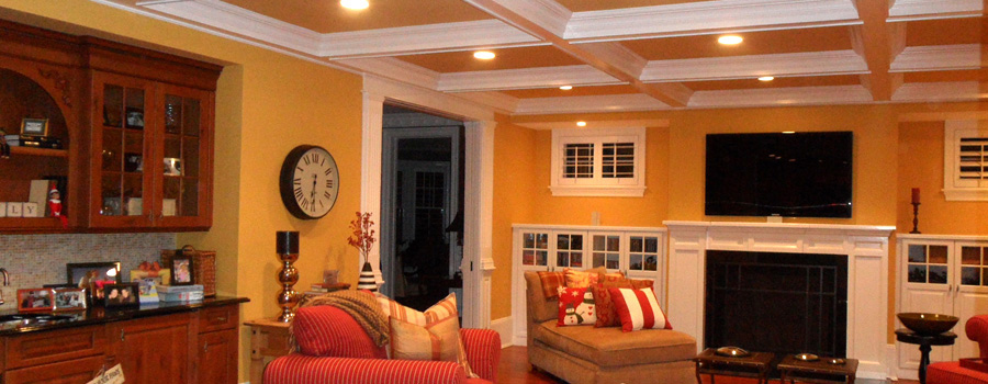 Family room interior house painting in       Kennesaw